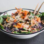 Big thai salad in a while bowl