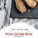 Slices of vegan zucchini bread