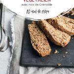 Tranches de pain aux courgettes végétalien