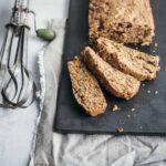 zucchini bread loaf cut in slices