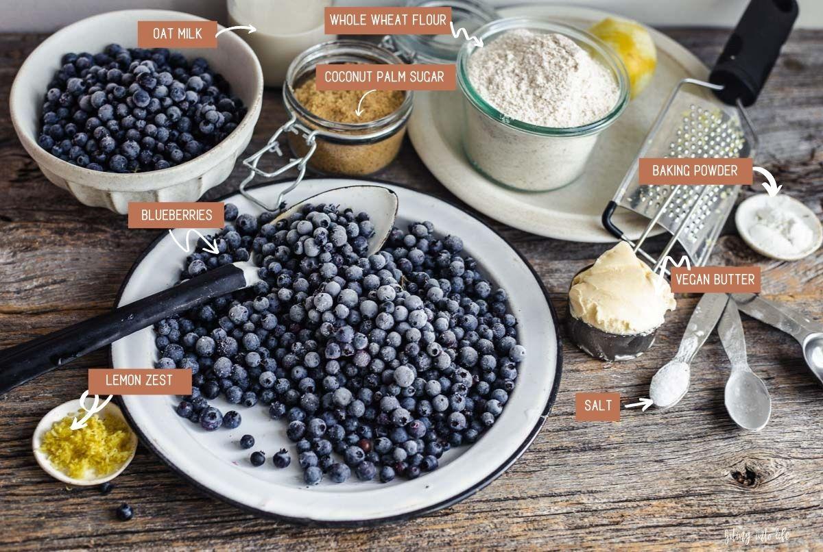 Vegan Blueberry Cobbler Ingredients